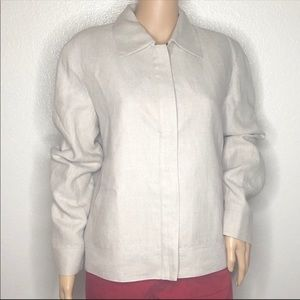 Lafayette 148 Linen Jacket Made in NYC Size 8